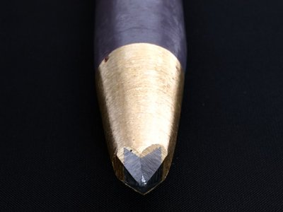 Photo1: [KONDO] Stone Chipping Chisel (D=30mm Bits=10mm*12mm, roll)