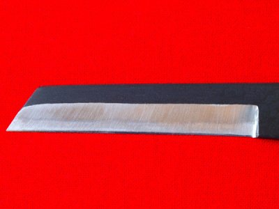 Photo1: [KANETAKA] Pencil sharpener for drawing (lefthand, White Paper steel, Black finish)
