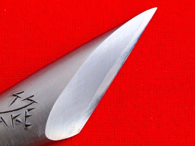 Photo1: [KANETAKA] Bamboo Kiridashi (righthand, White Paper steel)