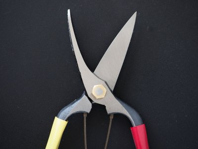 Photo3: [Tobisho] Cutting buds pruner (200mm edges / Red and Yellow tape)