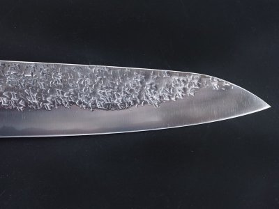 Photo2: [KISUKE] WA-Gyuto (chef's knife about 190mm brade, ATS-34 stainless / stainless Warikomi, Red sandalwood Handle)