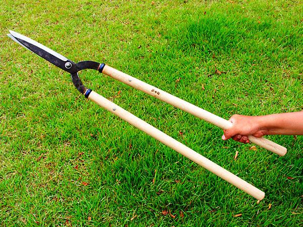 Photo1: [MANAKA] Karikomi Shears (Kanto type, 195mm edges, 600mm handle) (1)