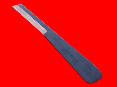 Photo1: [KANETAKA] Pencil sharpener for drawing (lefthand, White Paper steel, Black finish) (1)