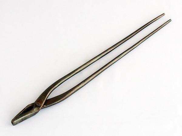 Photo1: Blacksmith's tong (Flat)  (1)